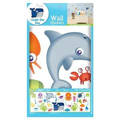 Unter dem Meer Sticker Packung 35 Enthalten Kinder Schlafzimmer Spielzimmer Neu