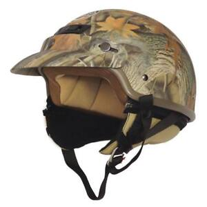 NEW Core Forester Deluxe Half Helmet (Tan Camouflage, X-Large)