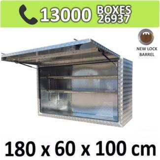 Aluminium Truck Square Toolbox Ute Trailer Storage Box 1861
