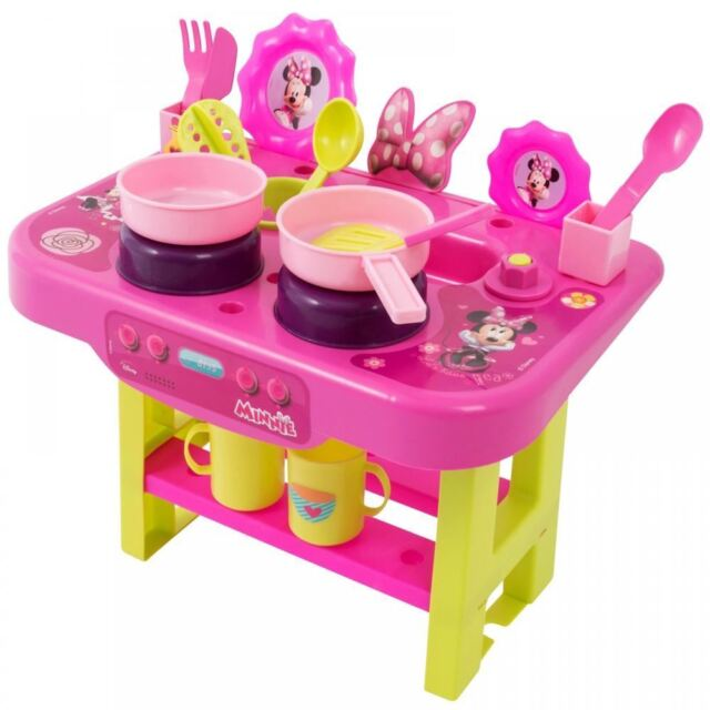 Disney Minnie Mouse My First Kitchen Playset Kids Cook Play Hob ...