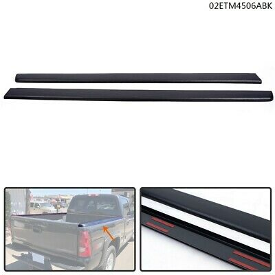 Truck Bed Cap Molding Rail Cover Fit For 99-07 Silverado/Sierra 6.5Ft Bed Black