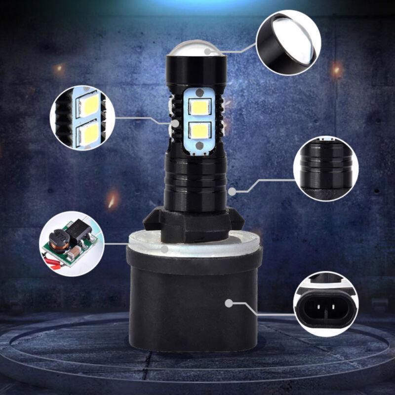 2x Hot White 880 890 892 893 899 100W 6000K Xenon LED Fog Light Bulbs Universal