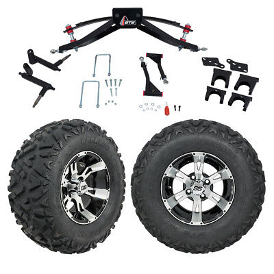"GTW 6"" Club Car Precedent Golf Cart Lift Kit With Mud Tires & 12"" Wheels 2004-Up"