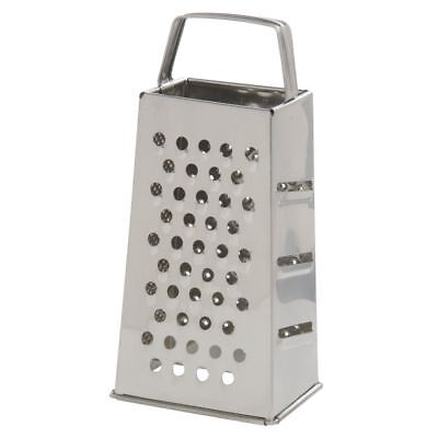 """Cheese Grater Stainless Steel 4-Sided - 8""""H"""