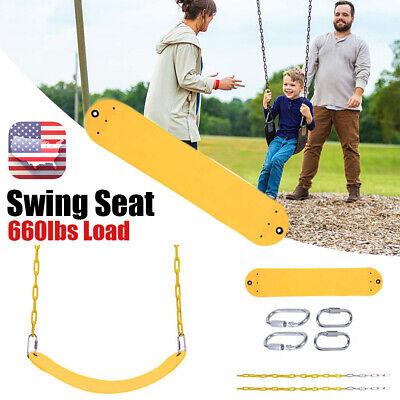 Swing Seat Slide Kids Playset Rope Chain Playground Equipment Accessories Yellow