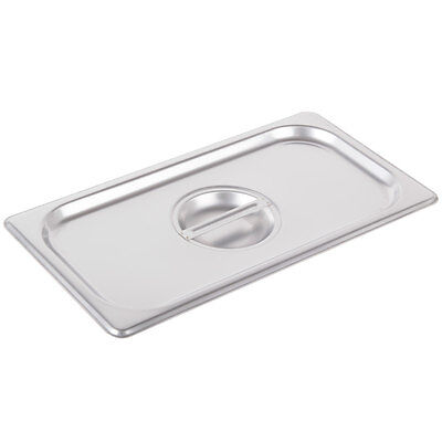 3 Pack 13 Size Solid Stainless Steel Silver Steam Table Hotel Pan Lid Cover
