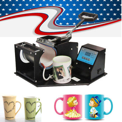 Usaheat Press Transfer Sublimation Machine Dual Digital 8.3cm Cup Coffee Mug
