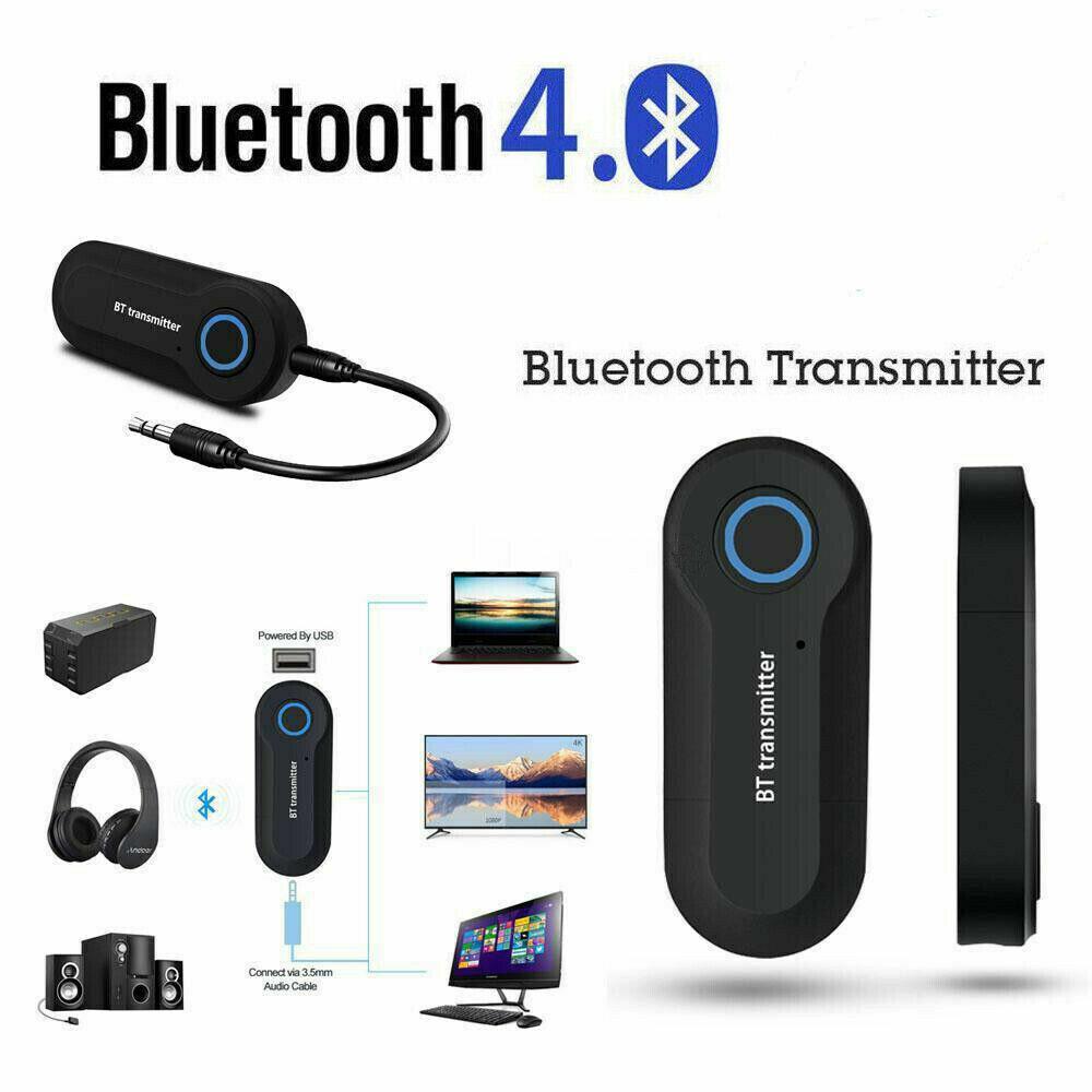 Bluetooth 4.0 Transmitter Audio Wireless Adapter 3.5mm TV St