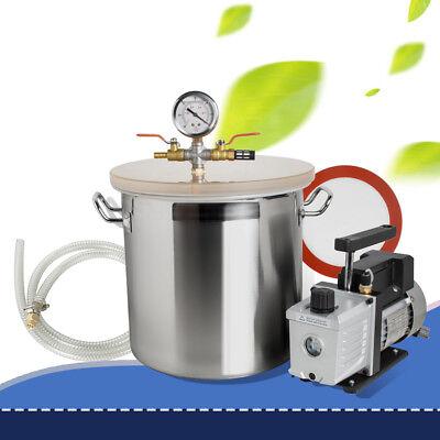 5 Gallon Vacuum Degassing Chamber Silicone Kit W Pump Hose Safe Useusa