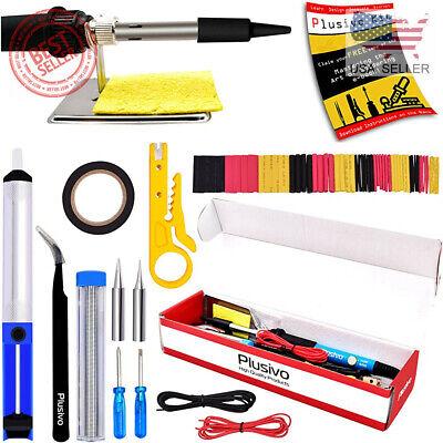 Soldering Iron Kit Electrical Welding Tool Gun Set Solder Station 60w 110v