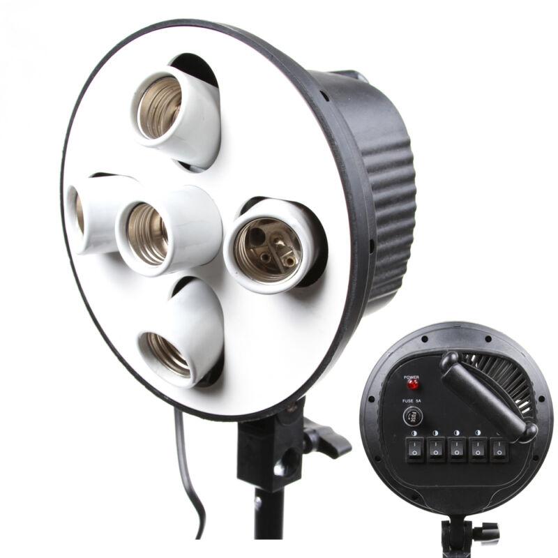 5 in 1 E27 Light Lamp Bulb Head Bracket Umbrella Holder For Studio Softbox China