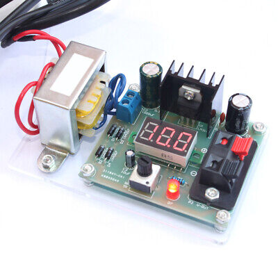 Lm317 1.25v-12v Continuously Adjustable Regulated Voltage Power Supply Kit A4s4