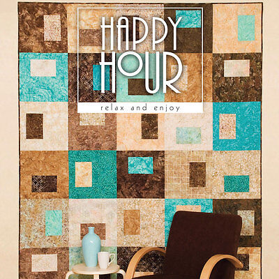 HAPPY HOUR Easy Quilt Patterns ATKINSON Design NEW BOOK Tote