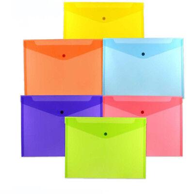 1pc Plastic File Folder Case Office Document Bag A4 Stationery Holder Organizer