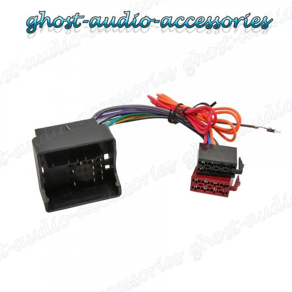 mercedes c class quadlock radio wiring iso harness headunit connector loom 100 ebay