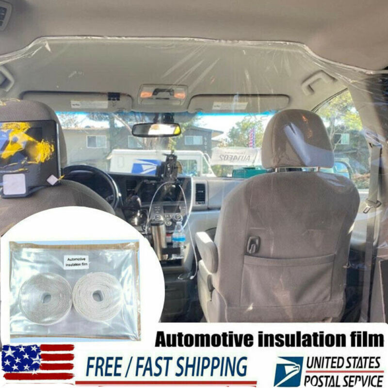 Car Taxi Uber Lyft Cab Divider Film Isolation Partition Protective Curtain Film