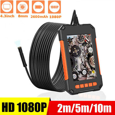 8mm Industrial Endoscope Camera 1080p Hd 4.3 Screen Snake Inspection Camera