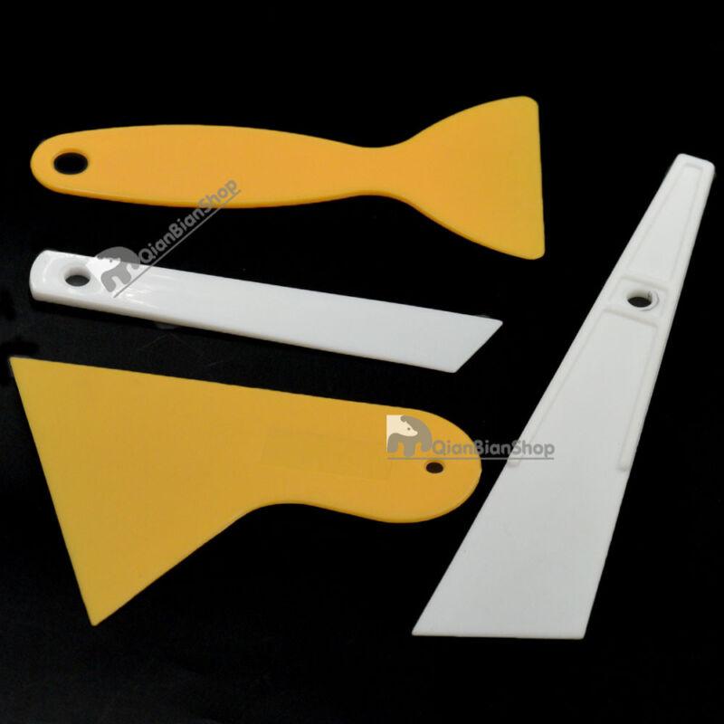 Plastic Car Glass Stickers Scraper Plates Paint Removal DIY Tool Accessories BB