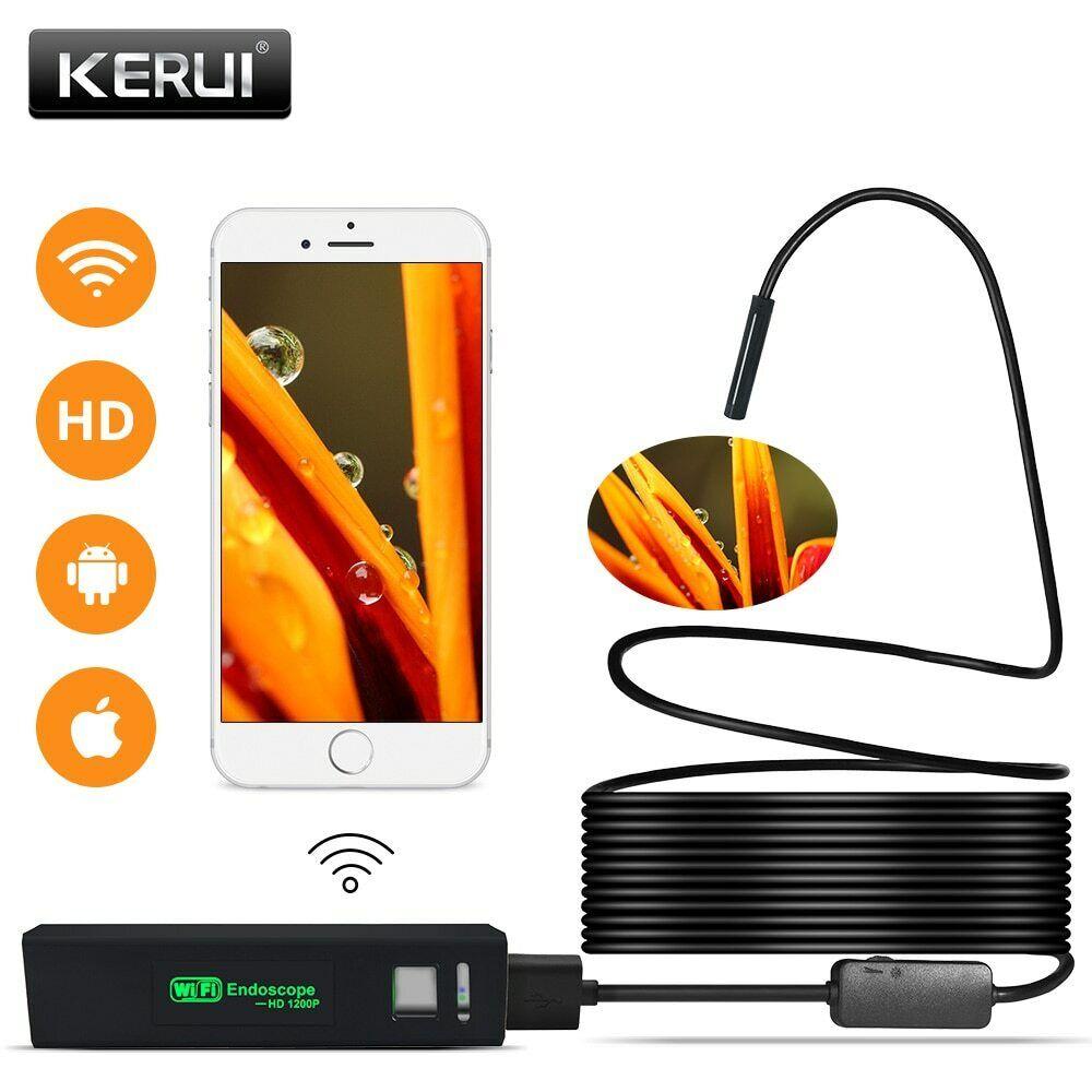 WIFI USB Endoscope Camera Borescope Soft Cable Inspection Ca