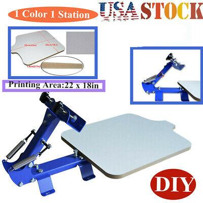 Usa 1 Color 1 Station Silk Screen Printing Press Machine For Diy Graphic T-shirt
