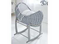CLAIR DE LUNE MOSES BASKET WITH ROCKING STAND