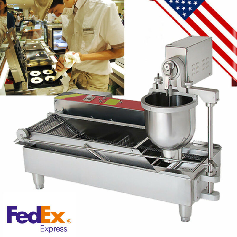 (USA STOCK) Automatic Commercial Donut Fryer Maker Making Machine Donut Robot CE