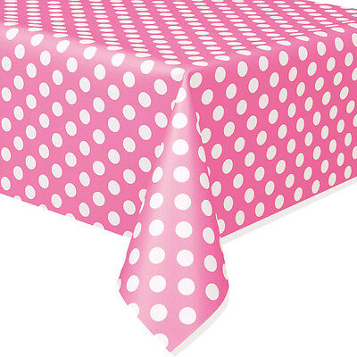 Minnie Mouse Hot Pink Polka Dot Plastic Table Cover Birthday Decoration Party ](Decoration Minnie Mouse)