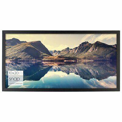 Pinnacle Frames & Accents- SNAP 10 by 20 Inch Black Wood Photo Frame (Pinnacle Frames)