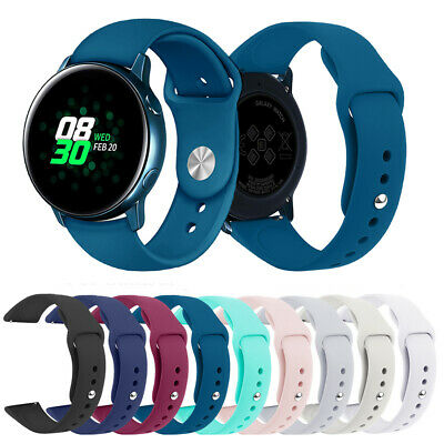 For Samsung Galaxy Watch Active 2 Replacement Silicone Sport Wrist Band Strap