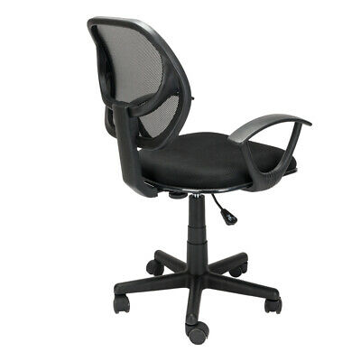 Computer Task Stool - Hight Back Drafting Chair Stool Mesh Swivel Armrest Computer Office Task Seat
