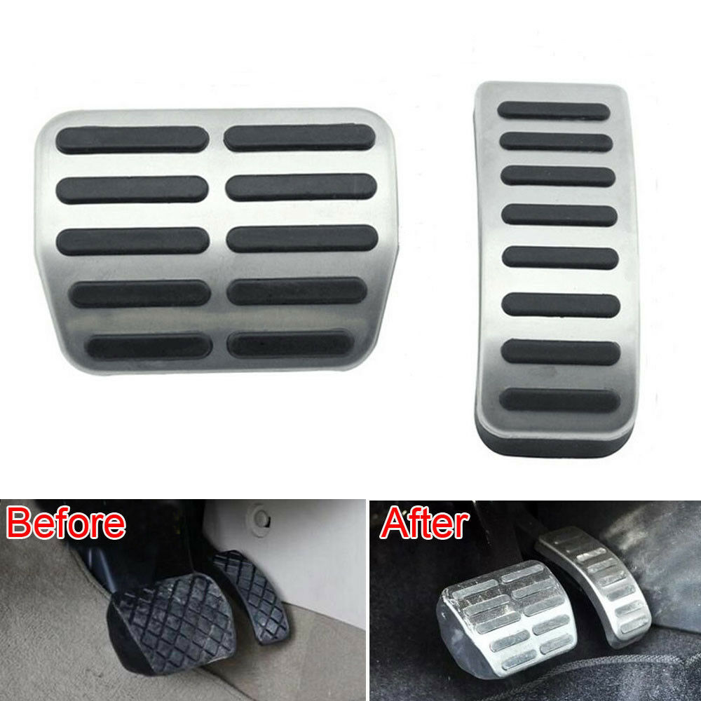 Details about 2x Anti-slip Car Accelerator Brake Pedal Pad Cover Trim  Stainless For Polo Jetta