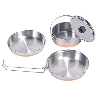Stansport Stainless Steel Mess Kit with Pot/Pan/Plate 360