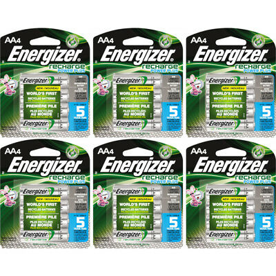 Energizer Recharge AA Rechargeable Batteries NiMH 2300mAh 6