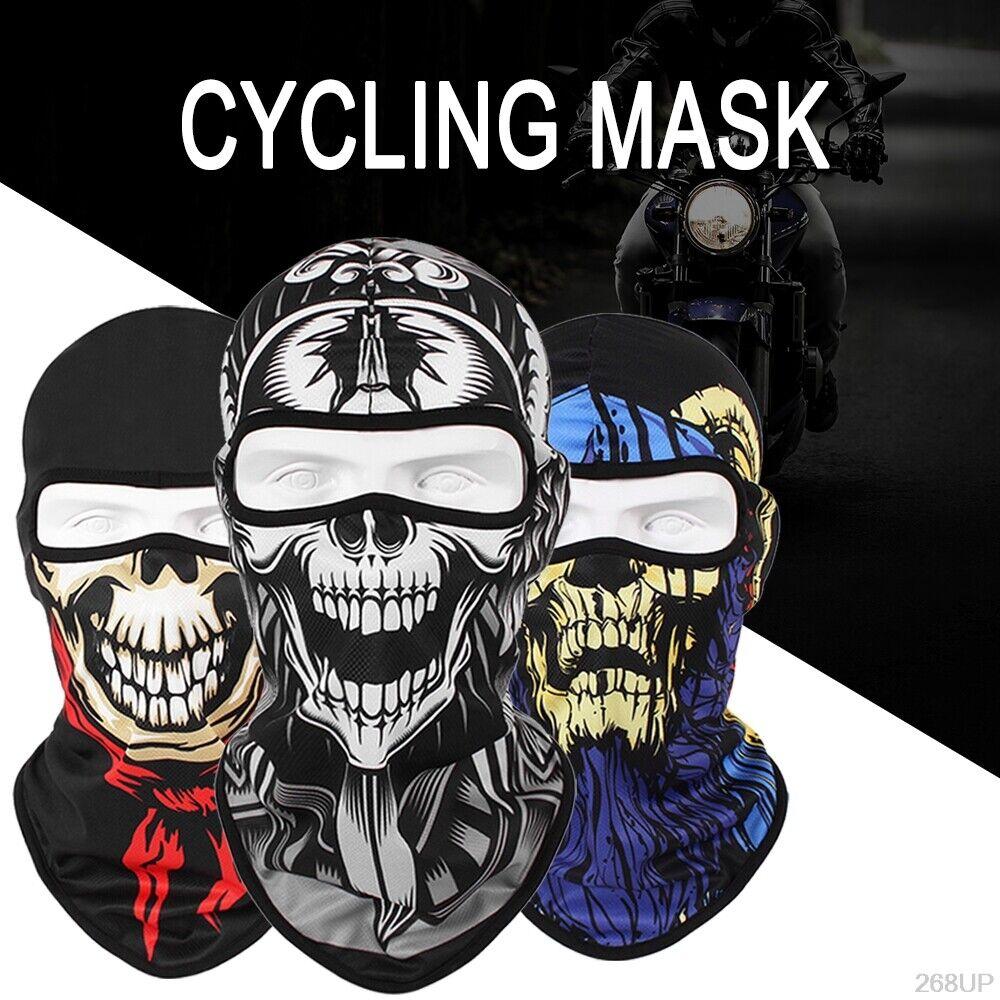 Tactical Skull Ghost Printed Full Face Mask Balaclava Halloween Ski Motorcycle Clothing