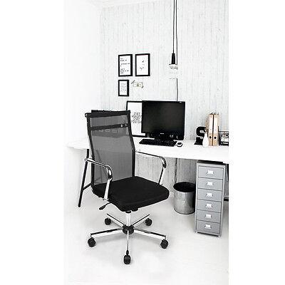 Christmas Sale Tilt Function Black Mesh Executive Office Chair Chrome Arms New