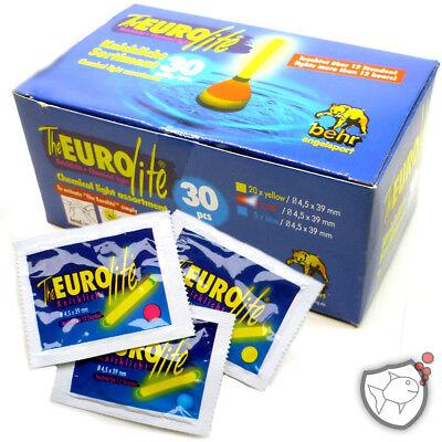 EUROlite Knicklicht-Set | 30 Stück, gelb, rot, blau | 4,5 x 39mm | Bissanzeiger