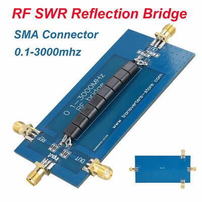 Rf Swr Reflection Bridge 0.1-3000mhz Antenna Analyzer Vhf Vswr Return Loss Sma