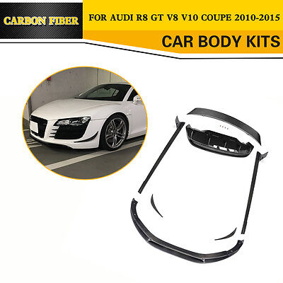 Carbon Fiber Rear Spoiler Diffuser Truck Parts  Body Kits Fit for Audi R8 10-15