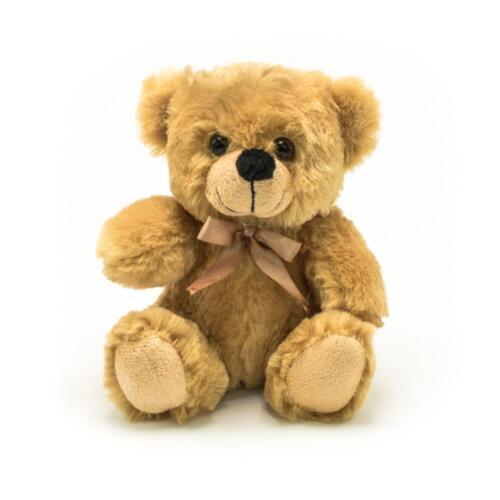 "6"" Beige Plush Teddy Bear Stuffed Animal Toy Gift New"