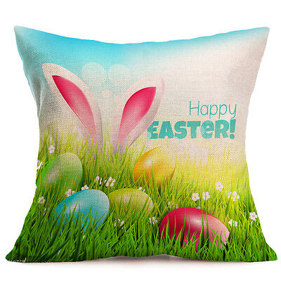For Easter Car Sofa Bed Throw Pillow Case Cushion Cover Festival Home Decoration