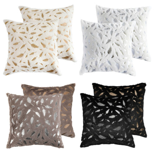 "1 2pcs 18"" Soft Faux Fur Velvet Throw Pillow Case Cushion So"