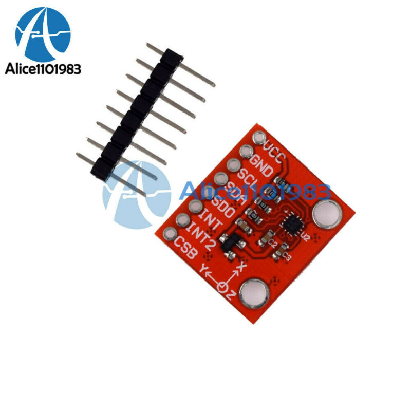 1.62-3.6V BMA-280 Three-axis Gravity Triaxial SPI I2C Acceleration Sensor Module