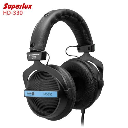 SUPERLUX hd-330 audiofilo HI-FI CUFFIE STEREO semi-aperte DINAMICO TRASPARENTE