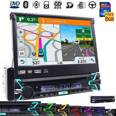 Single 1 Din Car DVD Player In Dash Audio Video GPS Navigation System Head Unit comprar usado  Enviando para Brazil