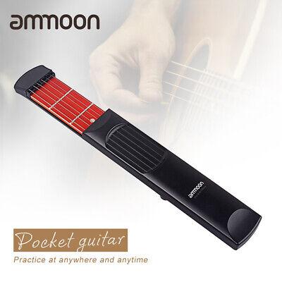 Pocket Acoustic Guitar Practice Tool Gadget Chord Trainer 6 String 6 Fret Model
