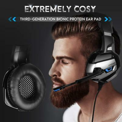 Over-Ear Gaming Headset with Noise-canceling Mic for PC PS4 Xbox One Switch