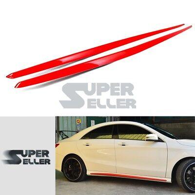 Usado, Red For Mercedes Benz CLA CLA250 Sport W117 Side Skirts Cover Body Kit 14-19 segunda mano  Embacar hacia Mexico