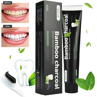 Activated Charcoal Teeth Whitening Toothpaste Natural Black Mint Flavor -