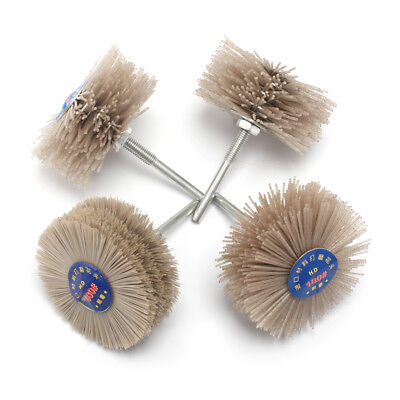 4pcs Abrasive Nylon Wheel Brush Polishing Grinder For Wood Stone Grit 80-600