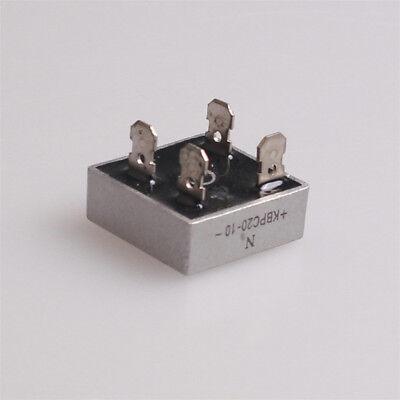 5pcs 20a 1000v Metal Case Single Phases Diode Bridge Rectifier Kbpc2010